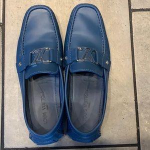 Louis Vuitton Driving Shoes Blue